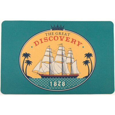 Nautical Vintage Ship 1878 Floor Mat