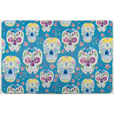 Coastal Sugar Skulls Floor Mat