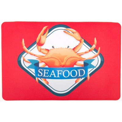 Coastal Crab Seafood Floor Mat