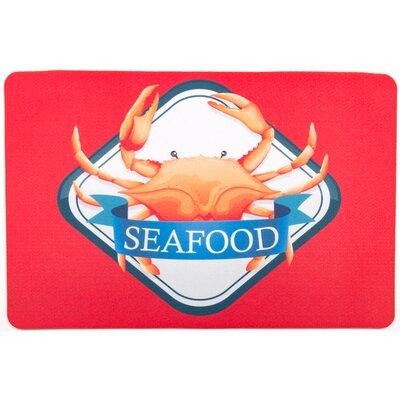 Coastal Crab Seafood Floor Mat