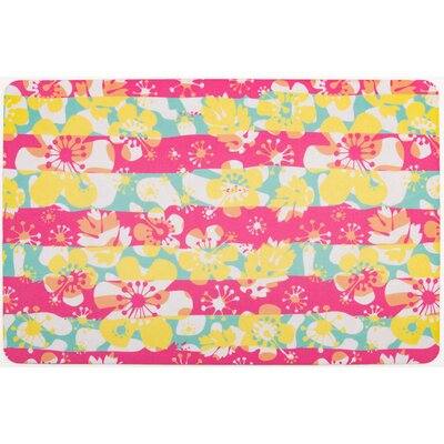 Tropical Island Flowers Doormat
