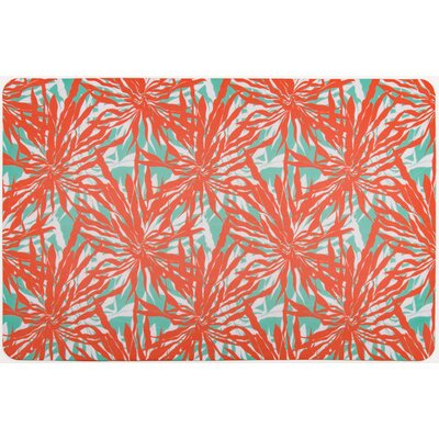 Tropical Palm Springs Doormat Color: Coral red/Aqua/White