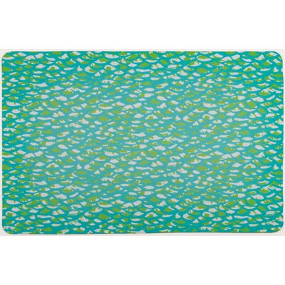 Coastal Fish Scales Floor Mat
