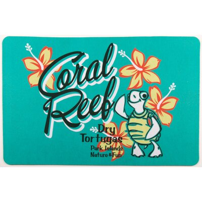 Coastal Coral Reef Turtle Floor Mat