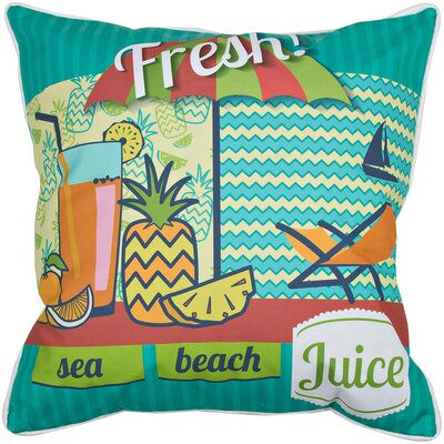 Garden Fresh Juice Throw Pillow