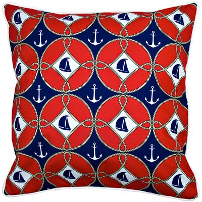 Nautical Sailboats and Anchors Throw Pillow