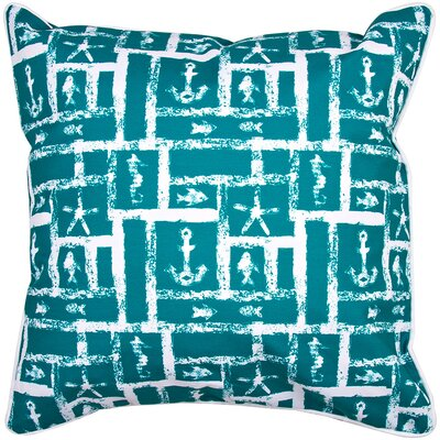 Coastal Ocean Squares Throw Pillow