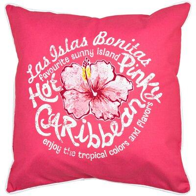 Tropical Hot Caribbean Throw Pillow