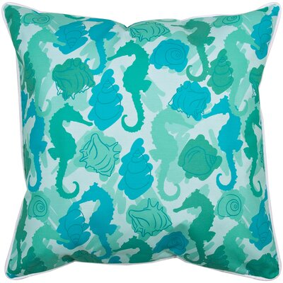 Coastal Seahorses Throw Pillow