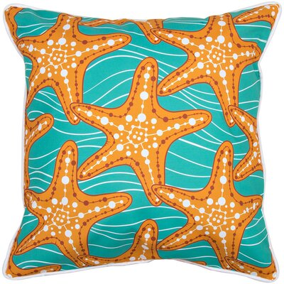 Coastal Starfish in Waves Throw Pillow