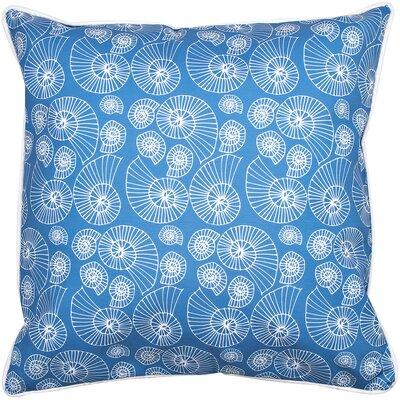 Coastal Nautilus Outline Throw Pillow