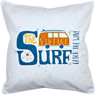 Surfer Vintage Surf Van Throw Pillow