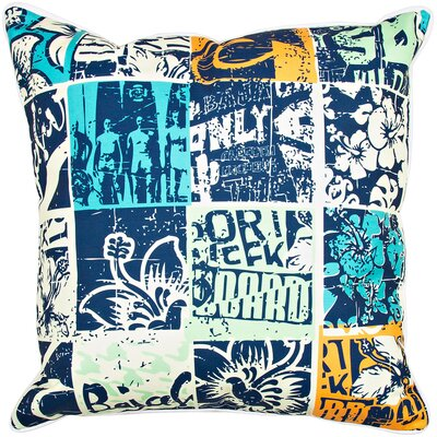 Surfer Surfing Patchwork Throw Pillow
