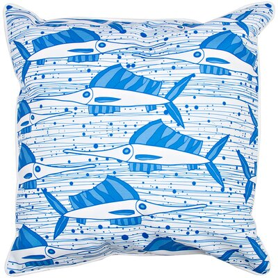 Coastal Sailfish School BlueThrow Pillow