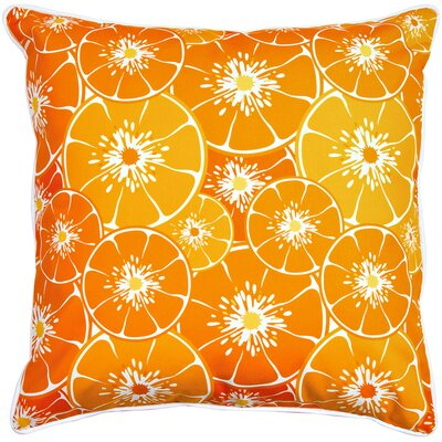 Garden Orange Slices Throw Pillow