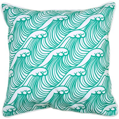 Coastal Wave Hello Throw Pillow