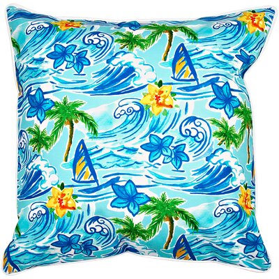 Surfer Hawaiian Surf Throw Pillow