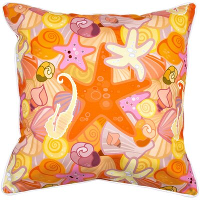 Coastal Sea Life Pastel Throw Pillow