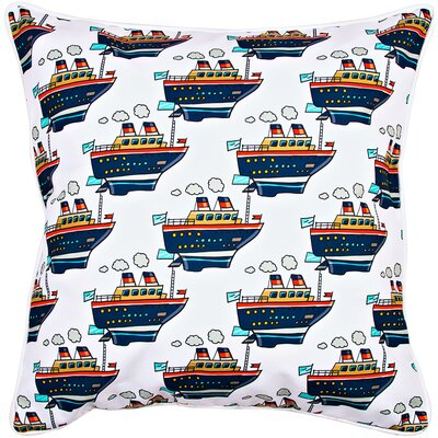 Nautical Cruise Ship Throw Pillow