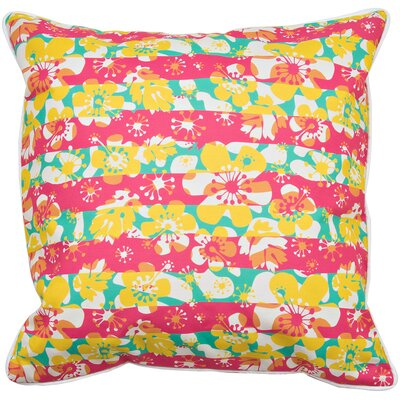 Tropical Island Flowers Throw Pillow