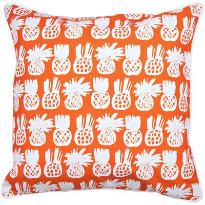 Garden Pineapple Field Throw Pillow