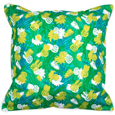 Garden Pineapple Parade Throw Pillow
