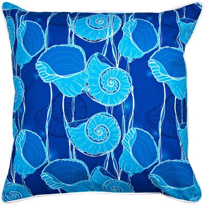 Coastal Nautilus Float Throw Pillow