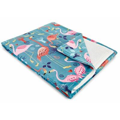 Flamingo Love Fleece Throw Blanket