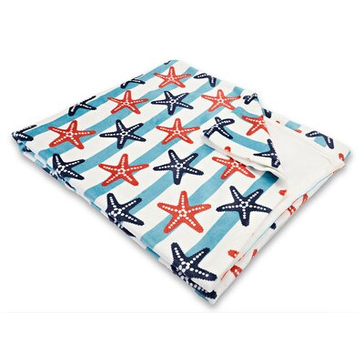 Sanibel Starfish Fleece Throw Blanket