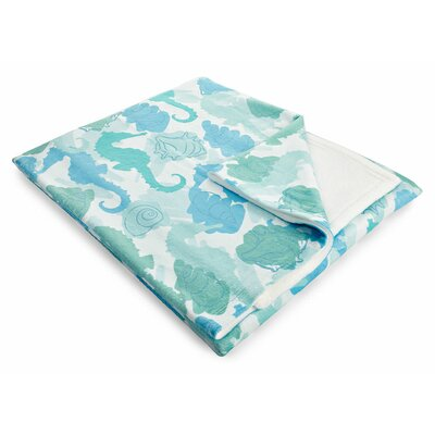 Coastal Seahorses Fleece Throw Blanket
