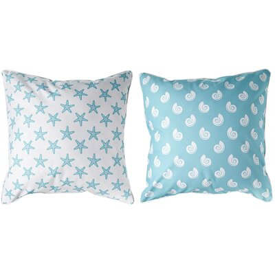 Marathon Shell and Starfish Throw Pillow