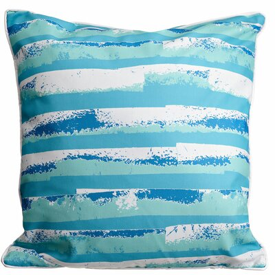Modern Ocean Currents Throw Pillow