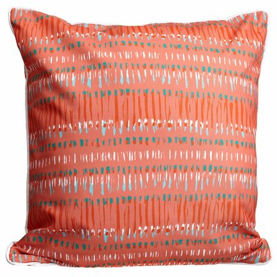 Modern Tribal Coral Throw Pillow