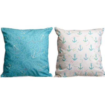 Amelia Anchor Splash Throw Pillow