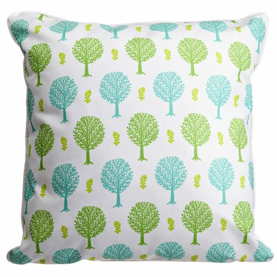 Garden Spring Trees Throw Pillow