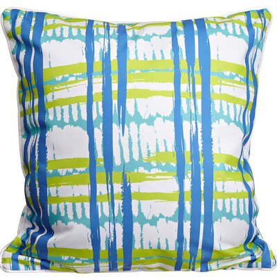 Modern Coastal Grid Throw Pillow