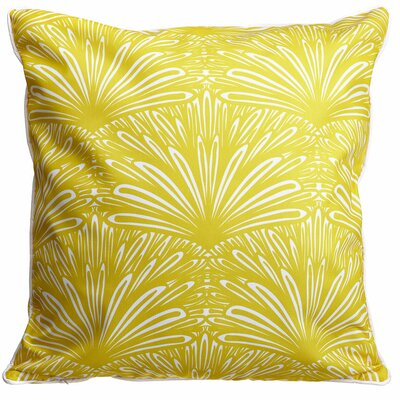 Modern Art Deco Goldenrod Throw Pillow