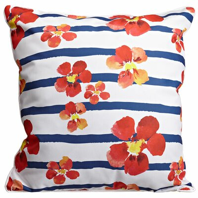 Garden Nasturtiums Throw Pillow