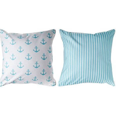 Marathon Anchors and Rope Throw Pillow