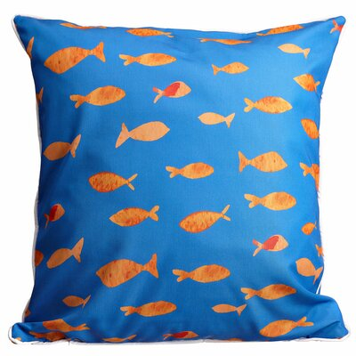 Coastal Fish Tank Throw Pillow