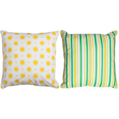 Shreveport Sun and Stripes Throw Pillow