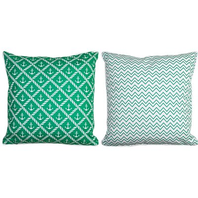 Sugarloaf Key Anchor and Chevron Throw Pillow