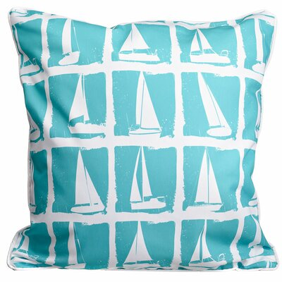 Nautical Regatta Throw Pillow
