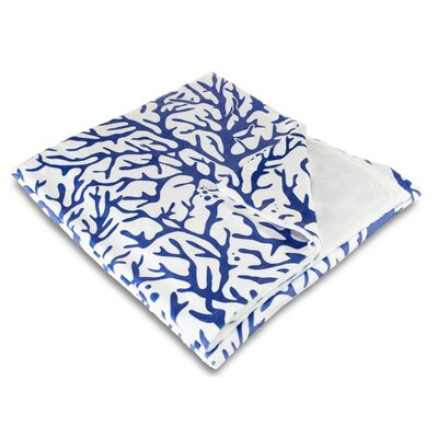 Waterbury Cobalt Fleece Throw Blanket