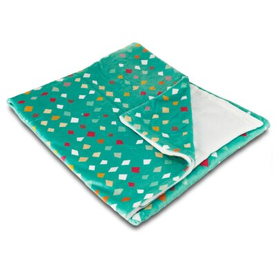 Modern Diamonds Confetti Fleece Throw Blanket