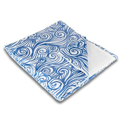 Coastal Dreamy Sea Fleece Throw Blanket