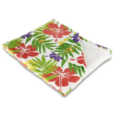 Tropical Island Fever Fleece Throw Blanket