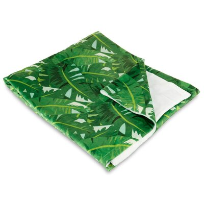 Tropical Jungle Fleece Throw Blanket