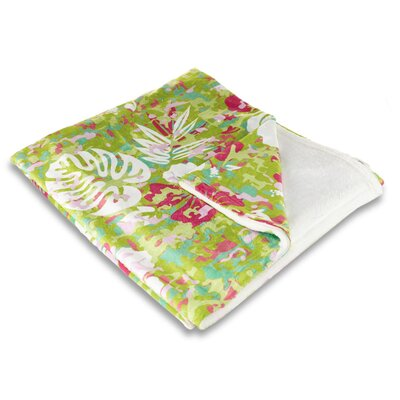 Tropical Key West Tropical Fleece Throw Blanket