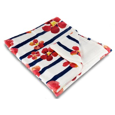Garden Nasturtiums Fleece Throw Blanket